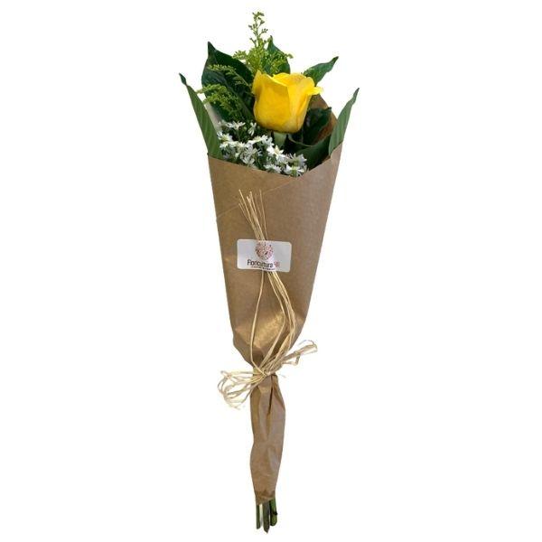Rosa individual amarela