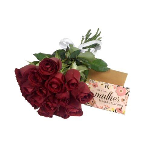 Buquê de rosas do dia da mulher